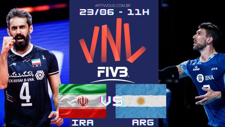 Irã 1 vs 3 Argentina – Liga das Nações – 23/06/2021