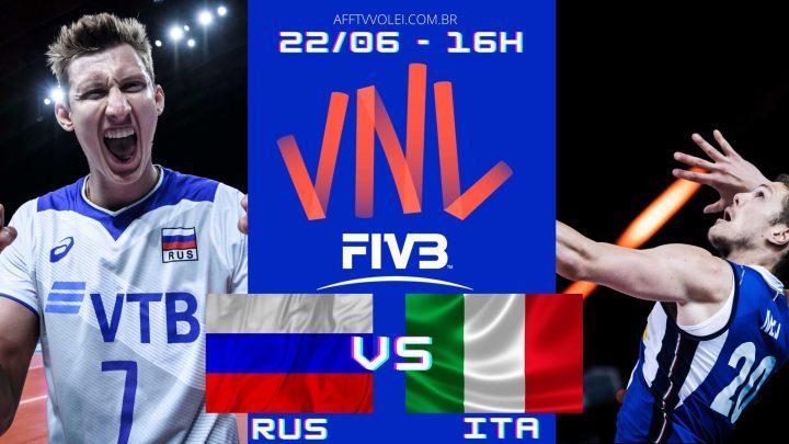 Rússia 3 vs 2 Itália – Liga das Nações – 22/06/2021