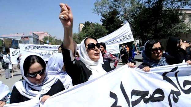 Afghan women demonstrate to fight for their freedoms, 100 years after their country gained independence. A film abut freedoms won - and lost.