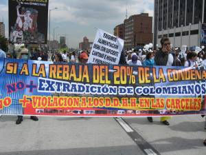 Colombians take to the streets in solidarity with the country's more than 10,000 political prisoners