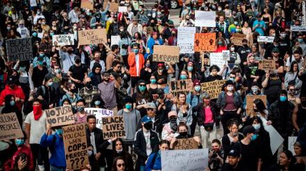 Demonstration against white supremacy & police violence