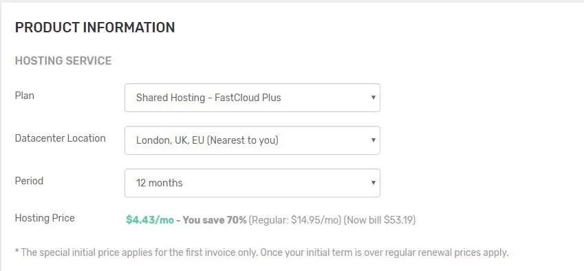 خطة FastCloud Extra