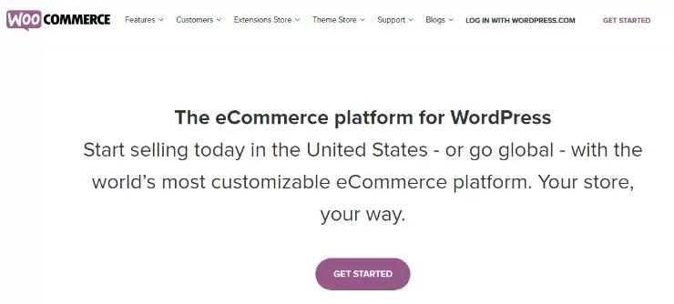 حل التجارة الإلكترونية الذي تتم استضافته ذاتيًا مثل WooCommerce