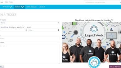 صورة مراجعة لشركة استضافة liquid web