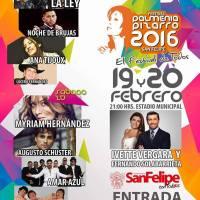 SAN FELIPE: VIERNES 19 Y SÁBADO 20 DE FEBRERO DE 2016 - FESTIVAL PALMENIA PIZARRO 2016