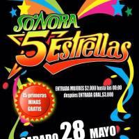 CONCHALÍ: SÁBADO 28 DE MAYO DE 2016 - SONORA 5 ESTRELLAS