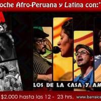 SANTIAGO: SÁBADO 30 DE JULIO DE 2016 - NOCHE AFRO PERUANA Y LATINA