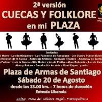 SANTIAGO: SÁBADO 20 DE AGOSTO DE 2016 - CUECAS Y FOLKLORE EN MI PLAZA