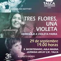 TALCA: JUEVES 29 DE SEPTIEMBRE DE 2016 - TRES FLORES, UNA VIOLETA