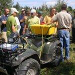 Lance électrique sur quad