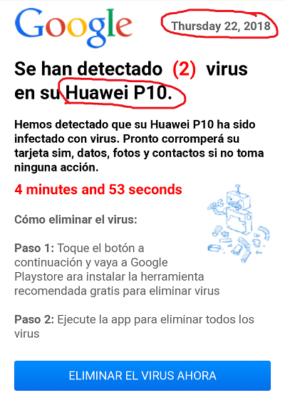 Landing antivirus con tokens