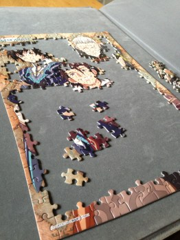 Half completed boys puzzle