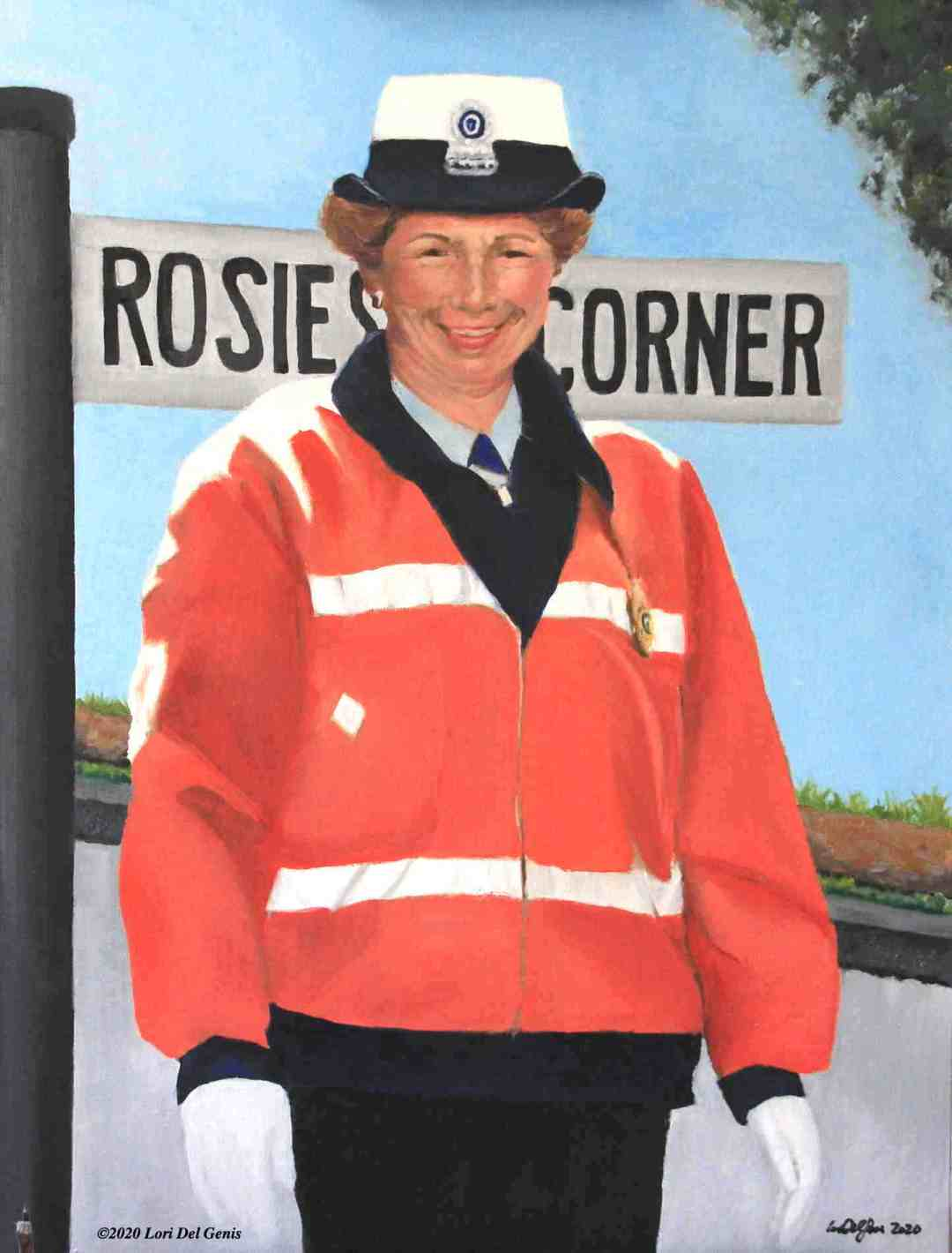 Oil portrait of Rosie Cleveland as commissioned by the Stoneham Cultural Council. (Lori Del Genis, 2020)