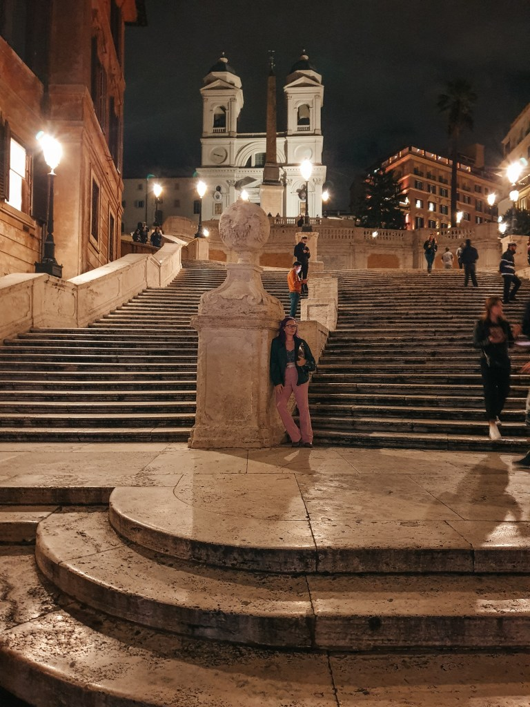 spanish steps, rome sights to see, rome at night