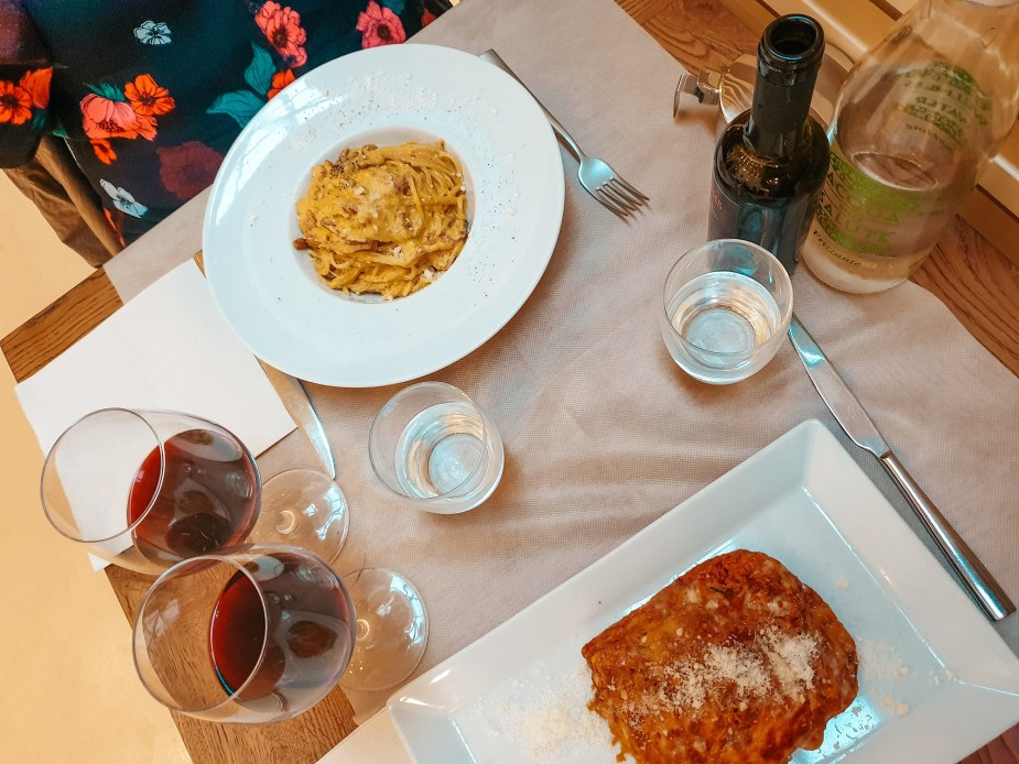 where to eat in rome, food in rome, italian wine