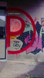 Some graffiti at BOUNCE