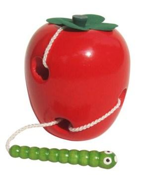 robaczywe jabłko przeplatanka drewniana