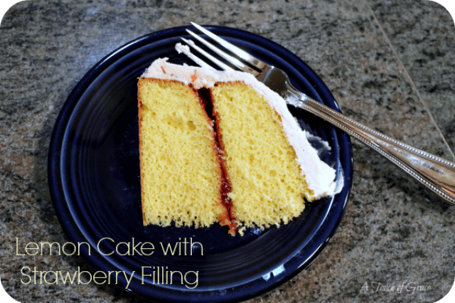 Lemon Cake With Strawberry Filling A Fit Mom S Life