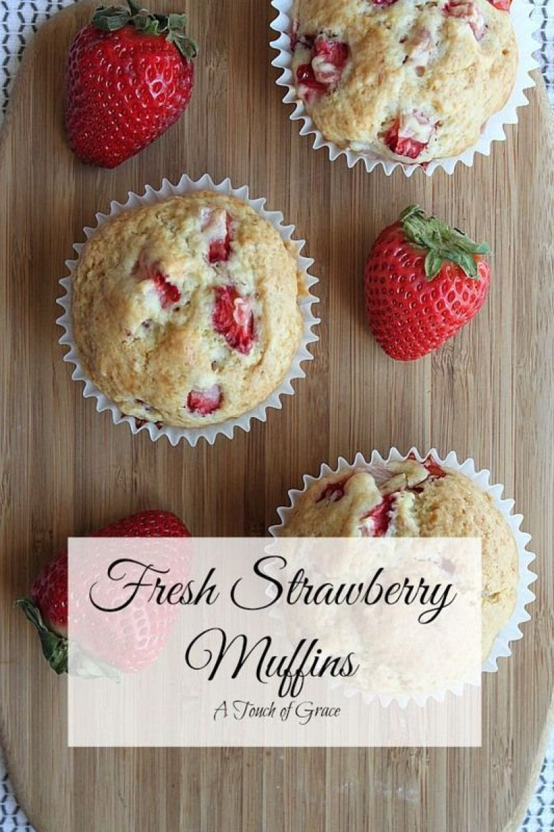These fresh strawberry muffins are a family favorite. They are so simple to make and something everyone will enjoy.
