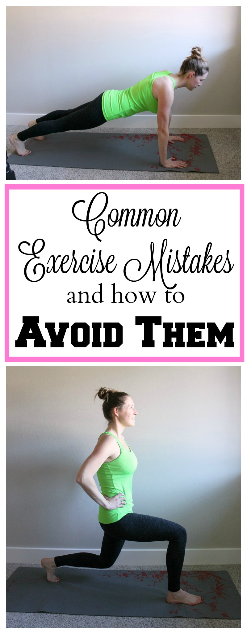 These common exercise mistakes are easy to fix. Make sure you're always using proper form when exercising.