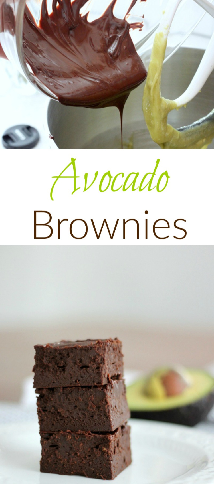 These fudgy avocado brownies are moist and melt in your mouth delicious.
