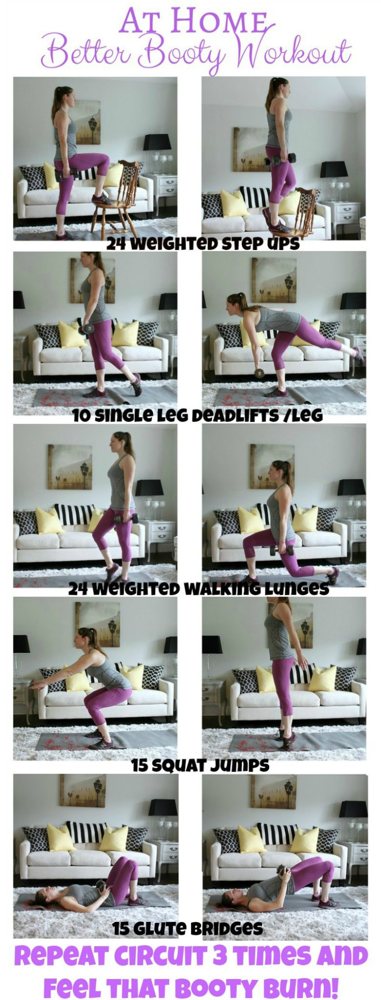 Get your booty in gear with this easy at home workout. There's also a special booty challenge so check it out!
