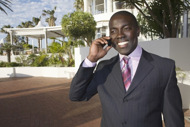 business man cell phone