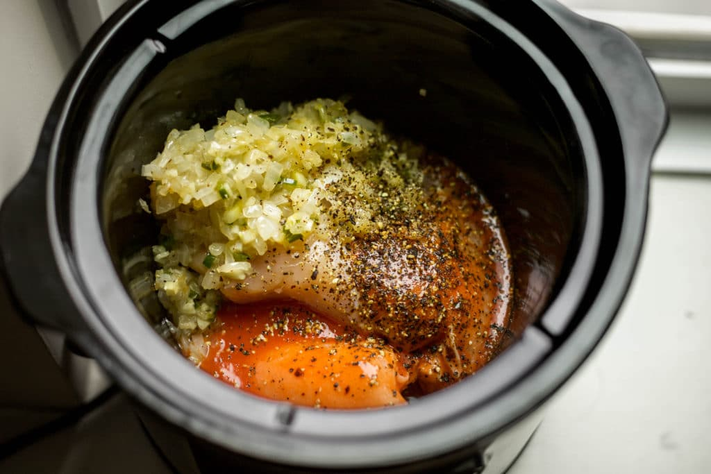 onion, garlic, jalapeno, buffalo chicken, and cracked pepper | a flavor journal food blog
