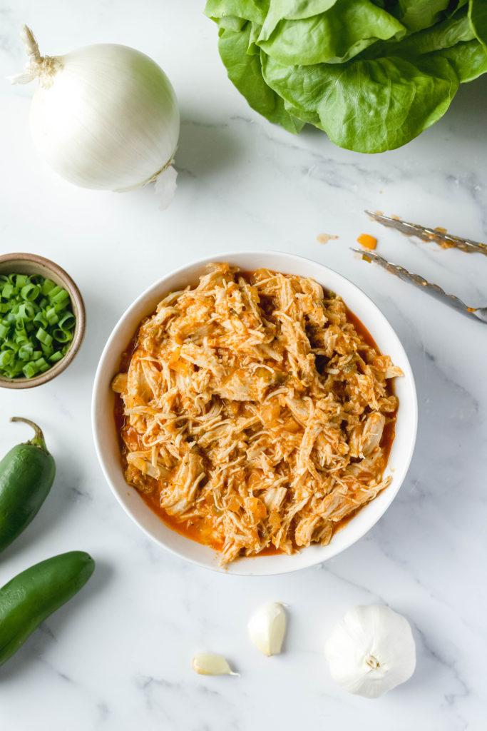 slow cooker shredded buffalo chicken recipe