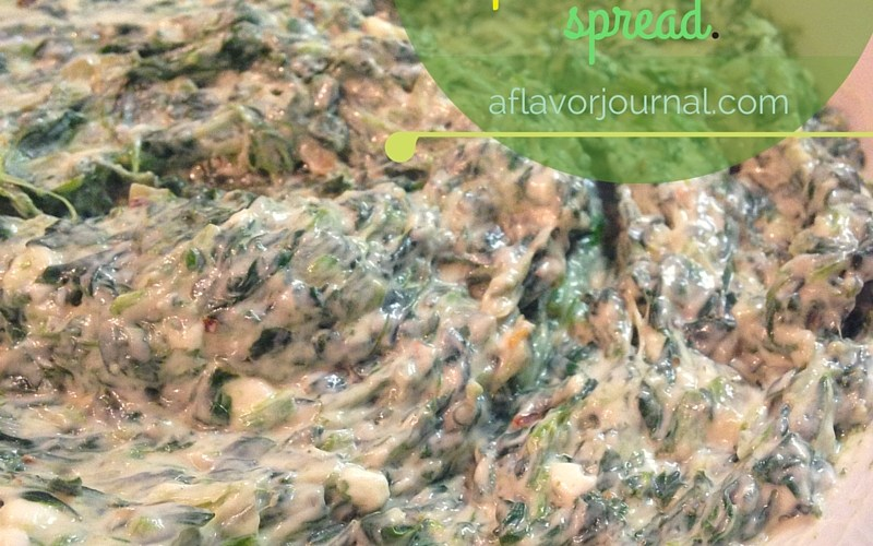 creamy spinach and shallot spread