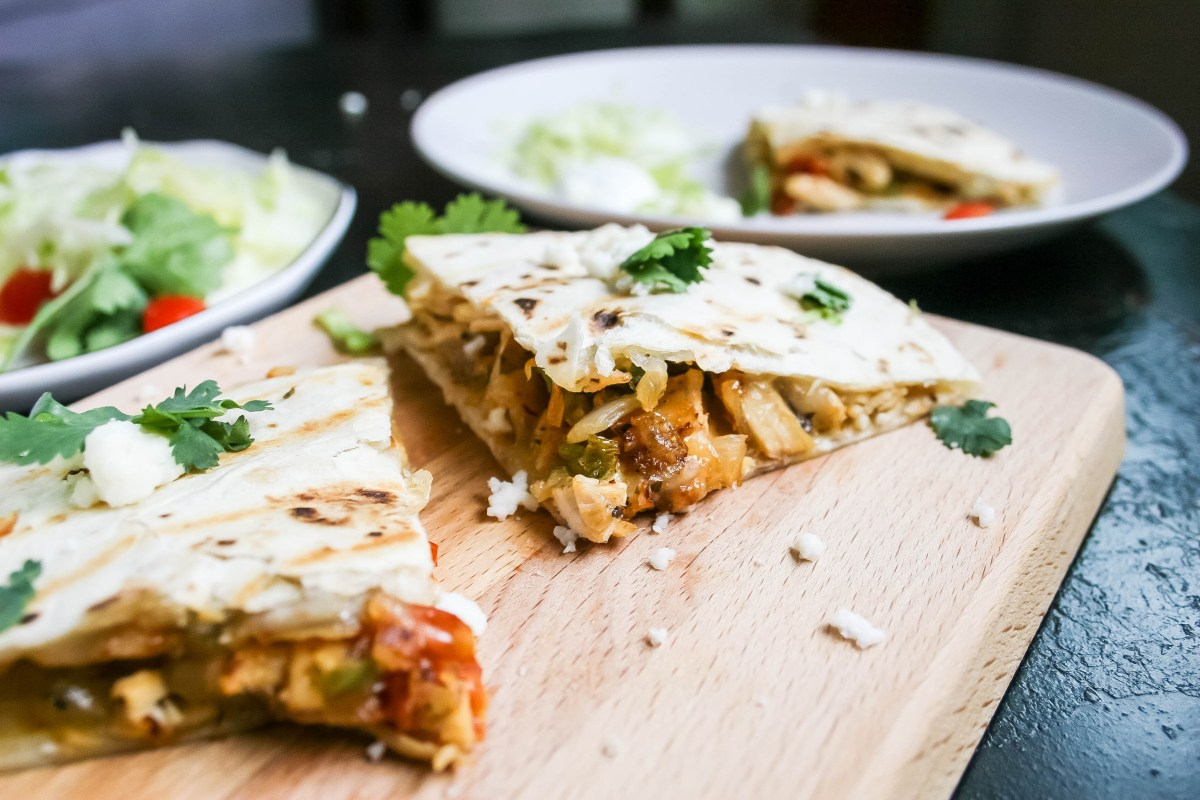 favorite chicken quesadillas