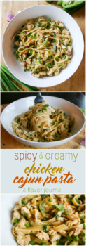 spicy and creamy chicken cajun pasta delivers big flavor with decadent cream sauce, veggies, pasta, and chopped chicken for the perfect weeknight dinner. | creamy chicken cajun pasta | a flavor journal food blog