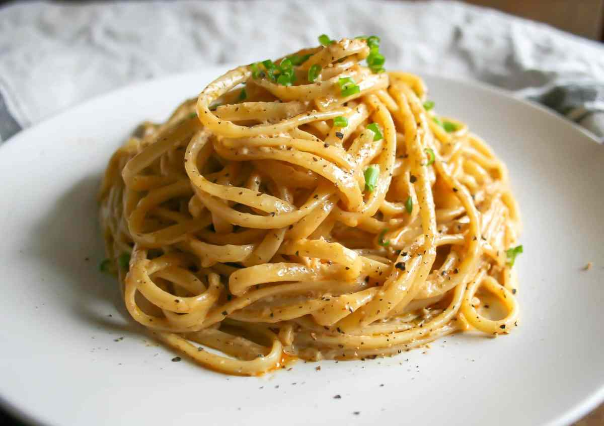 creamy cajun linguine : a small batch recipe for two.