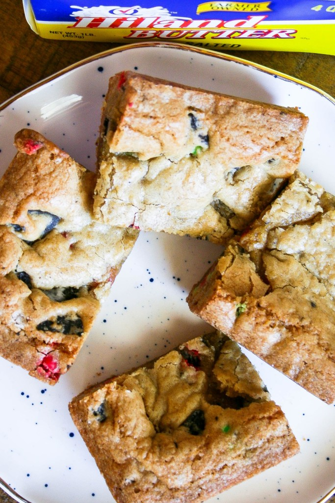 holiday cookie bars