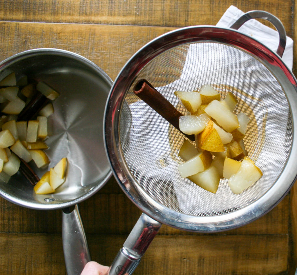 pears, cinnamon, and sugar combine to create this super easy spiced pear simple syrup for cocktails! spiced pear simple syrup | a flavor journal food blog
