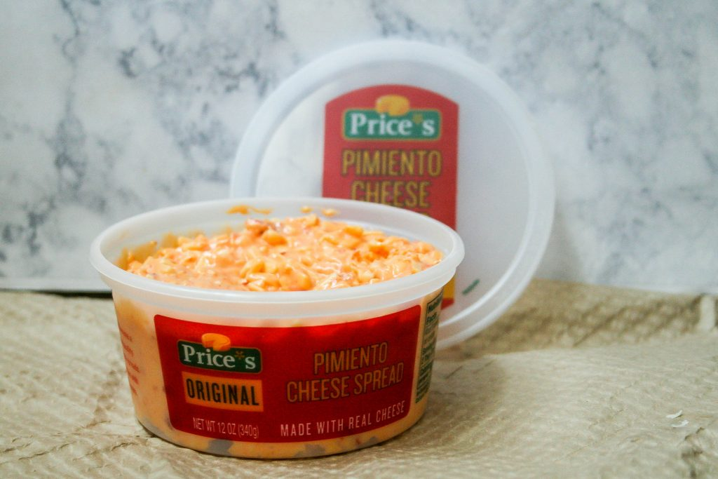mini grilled pimento cheese sandwich stacks with price's pimento cheese