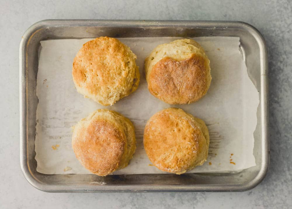 a small batch recipe for five baking powder biscuits