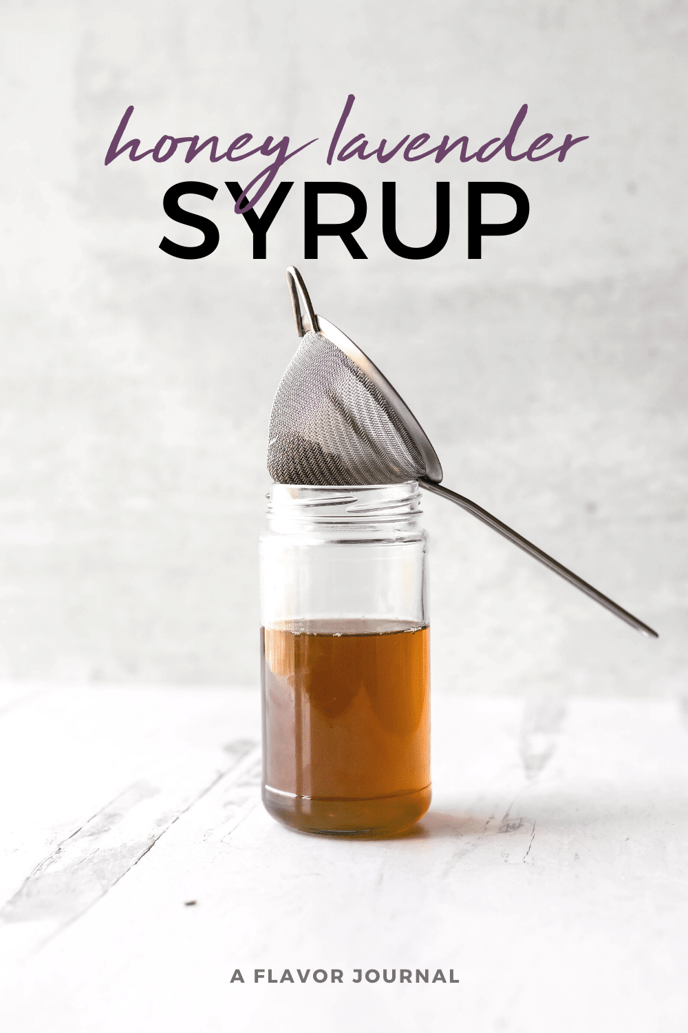 honey lavender syrup :: small batch