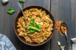 flavor packed chicken fried rice is spicy, loaded with flavor, and takes less than 30 minutes to make! this chicken fried rice recipe is complete with wine pairings for date night in, too! chicken fried rice with wine pairings | a flavor journal food blog