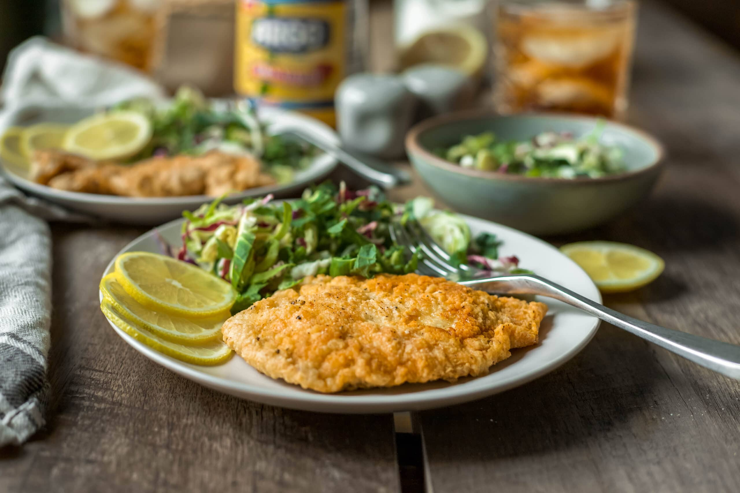 Crispy Chicken Schnitzel With Argo Corn Starch A Flavor Journal