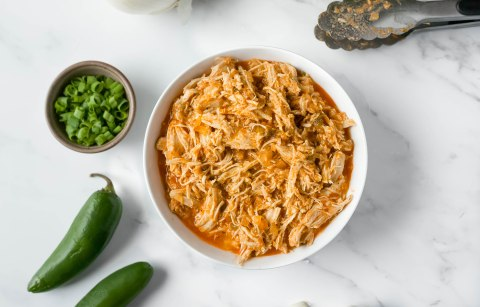 slow cooker shredded buffalo chicken recipe