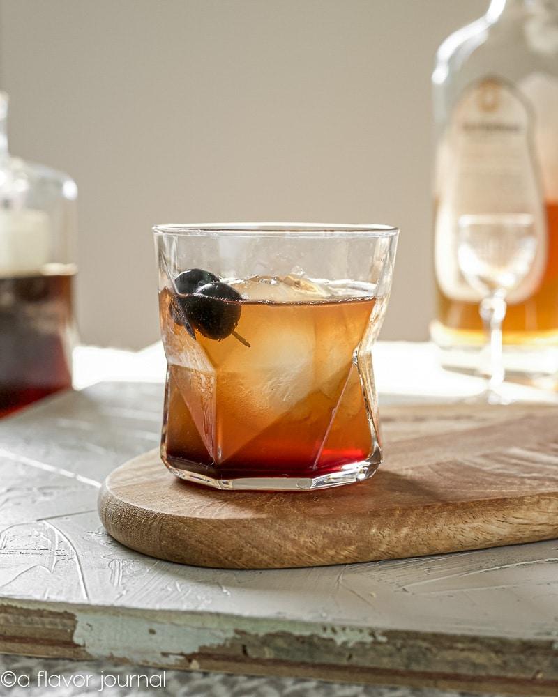 Man O\' War Bourbon Cocktail with Luxardo Cherry Juice