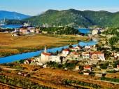 Croatie - La vue au matin au-dessus de Ploce