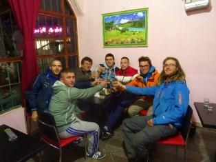 La fine équipe du café d'Angelo