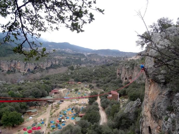 ... pour faire de la grimpe et de la highline !