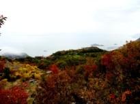 Vue depuis l'école sur le lac de Shkoder, entre l'Albanie et le Monténégro