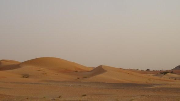 La route entre Dubaï et Oman