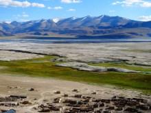 Le village des nomades depuis le monastère