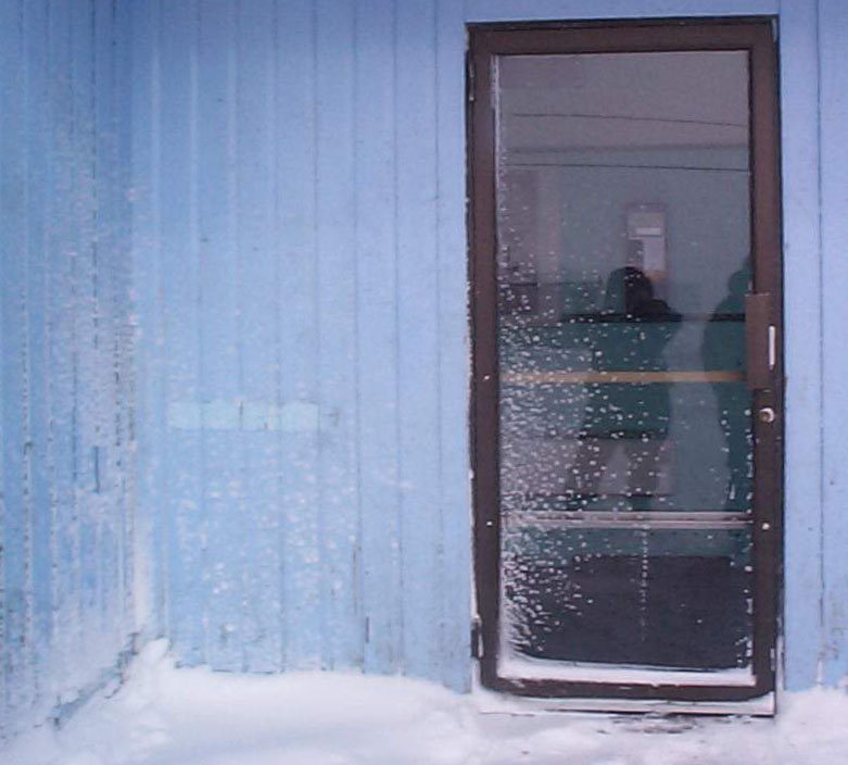 Reflection Iqaluit Blizzard