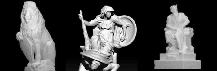 3D scans from Scan the World of V&A sculptures